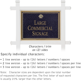 Salsbury 1511BGS2 Commercial Address Sign