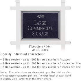 Salsbury 1511BSF2 Commercial Address Sign