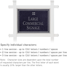 Salsbury 1511BSG1 Commercial Address Sign