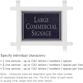 Salsbury 1511BSN1 Commercial Address Sign