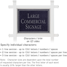 Salsbury 1511BSN2 Commercial Address Sign
