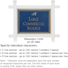 Salsbury 1511CGD2 Commercial Address Sign