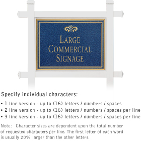Salsbury 1511CGF1 Commercial Address Sign