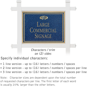Salsbury 1511CGF2 Commercial Address Sign