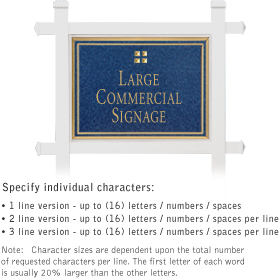 Salsbury 1511CGG1 Commercial Address Sign