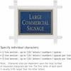 Salsbury 1511CGN1 Commercial Address Sign