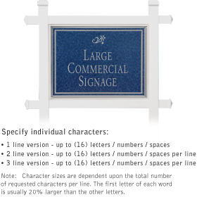 Salsbury 1511CSD1 Commercial Address Sign