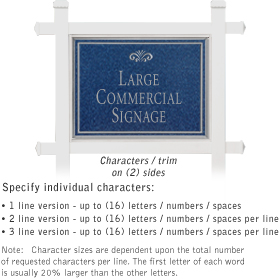 Salsbury 1511CSF2 Commercial Address Sign