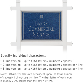 Salsbury 1511CSG1 Commercial Address Sign