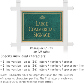 Salsbury 1511JGI2 Commercial Address Sign
