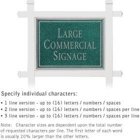 Salsbury 1511JSN1 Commercial Address Sign