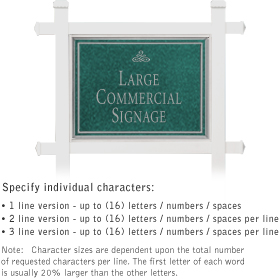 Salsbury 1511JSS1 Commercial Address Sign