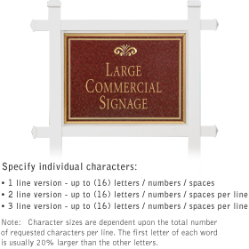 Salsbury 1511MGF1 Commercial Address Sign