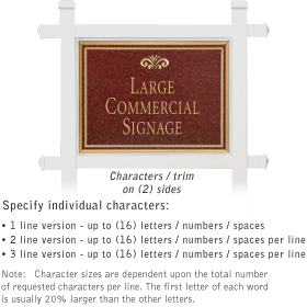 Salsbury 1511MGF2 Commercial Address Sign