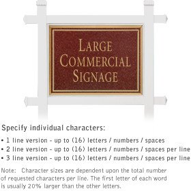 Salsbury 1511MGN1 Commercial Address Sign