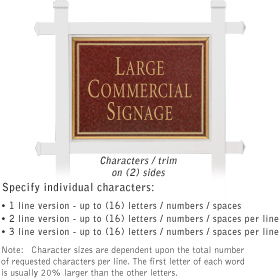 Salsbury 1511MGN2 Commercial Address Sign