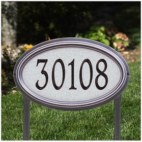 Concord Artisan Stone Estate Lawn Address Sign - One Line