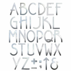Contemporary 5 inch House Letters