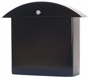 Contemporary Black Monet Wall Mounted Mailbox