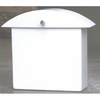 Contemporary Marshmallow White Monet Wall Mounted Mailbox