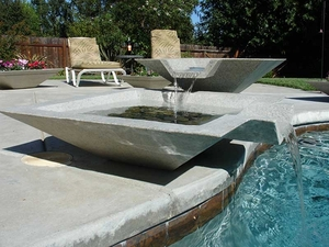 Cubic Scupper Fountain