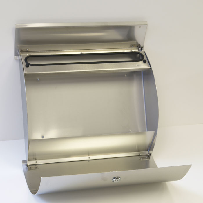 Curb Eal Stainless Steel Modern Contemporary Wall Mount Mailbox With Newspaper Holder