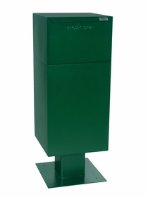 Curbside Parcel Locking Mailbox with Rear Access and Pedestal (included) - Green