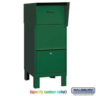 Salsbury 4205 Custom Color For Pedestal Drop Box