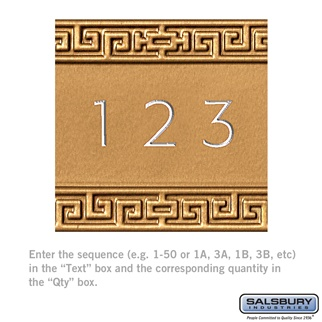 Salsbury 2168 Custom Door Engraving For Americana Mailboxes