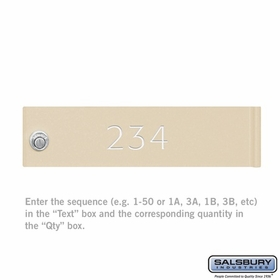 Salsbury 3368SAN CBU & Parcel Locker(s) Door Engraving Regular