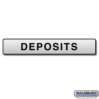 Salsbury 4267 Custom Engraved Self Adhesive Placard For Pedestal Drop Boxes
