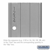 Salsbury 2274 Custom Engraving Black Filled For Aluminum Mailboxes