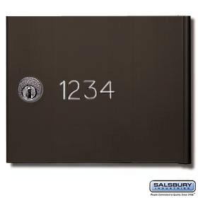 Salsbury 3674BRZ Custom Engraving Black Filled For Bronze 4B+ Horizontal Mailboxes