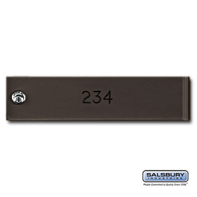 Salsbury 3774BRZ Engraving Filled 4C Horizontal Mailboxes Lockers