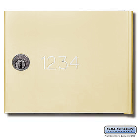 Salsbury 3668SAN Custom Engraving Regular For Sandstone 4B+ Horizontal Mailboxes