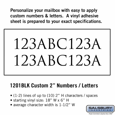 Salsbury 1201BLK Reflective Address Numbers