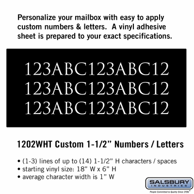 Salsbury 1202WHT Reflective Address Numbers