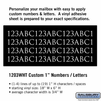 Salsbury 1203WHT Reflective Address Numbers