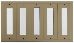 D400 200-Name Capacity Mail Directory Anodized Gold - Mount Beside Horizontal Mailboxes