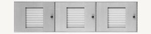 D500 24-Name Capacity Mail Directory Anodized Aluminum - Top Mount To Horizontal Mailboxes