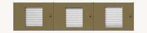 D500 24-Name Capacity Mail Directory Anodized Gold - Top Mount To Horizontal Mailboxes
