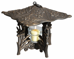 Whitehall Daffodil Twilight Lantern - Oil Rub Bronze