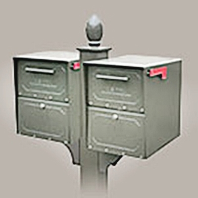 Double Locking Curbside Decorative In-Ground Post System (Mailboxes purchased Separately)