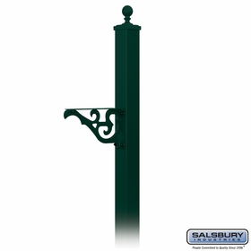 Salsbury 4845GRN Decorative Mailbox Post Victorian In Ground Mounted Green