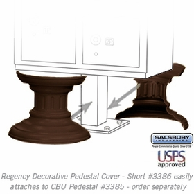 Salsbury 3386BRZ Decorative Pedestal Cover-Short - Bronze