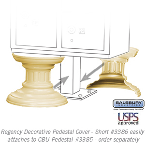 Salsbury 3386SAN Decorative Pedestal Cover-Short Sandstone