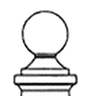 Decorative Square Post Finial for Street Sign Post (finial only)