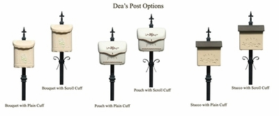Decorative Steel Mounting Post w/Decorative Cuff