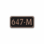 Dekorra Products 647 Medium Horizontal Address Plaques
