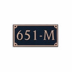 Dekorra Products 651 Medium Rectangular Address Plaques